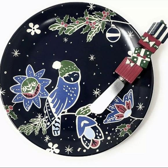NIB Vera Bradley Holiday Owls Christmas Plate Set